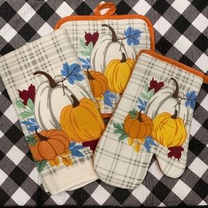 Farmhouse fall harvest pumpkin towel set